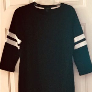 JCrew dress with zippers at hem size medium